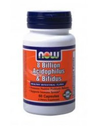 NOW ACIDOPHILUS/BIFIDUS 8 BILLION 60 CAPS
