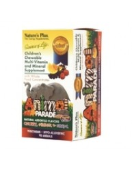 NATURE'S PLUS ANIMAL PARADE MULTI-VITAMIN CHEWABLE TABS 90 ANIMALS ASSORTED FLAVORS (CHERRY, ORANGE, GRAPE)