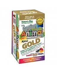 NATURE'S PLUS ANIMAL PARADE GOLD MULTI-VITAMIN & MINERAL (CHERRY ORANGE GRAPE) 60 ANIMALS
