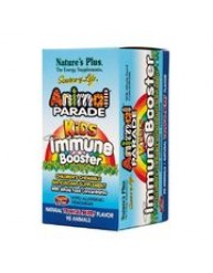NATURE'S PLUS ANIMAL PARADE KIDS IMMUNE BOOSTER 90 TROPICAL BERRY FLAVOR ANIMALS