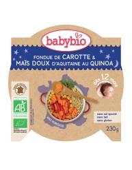 BABYBIO Γεύμα Καρότο/Καλαμπόκι με Κινόα +12μηνών  (230γρ)