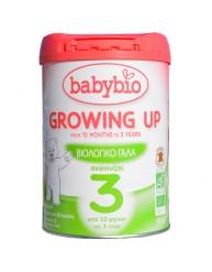 BABYBIO (BABYNAT) GROWING UP 3 ΒΙΟΛΟΓΙΚΟ ΓΑΛΑ ΣΕ ΣΚΟΝΗ ΑΠΟ 10 ΜΗΝΩΝ ΕΩΣ 3 ΕΤΩΝ 900ΓΡ