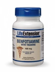 LIFE EXTENSION BENFOTIAMINE 100MG 120 CAPS