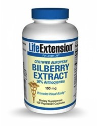 LIFE EXTENSION BILBERRY EXTRACT100MG 100 CAPS