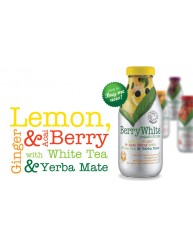 BERRY WHITE ORGANIC DRINK LEMON, GINGER & ACAI BERRY 330ML