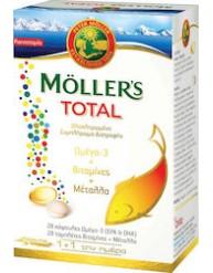 MOLLER'S TOTAL 28 ΚΑΨΟΥΛΕΣ ΟΜΕΓΑ-3 ΚΑΙ 28 ΤΑΜΠΛΕΤΕΣ ΒΙΤΑΜΙΝΕΣ + ΜΕΤΑΛΛΑ