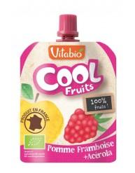 VITABIO COOL FRUITS Επιδόρπιο Φρούτων Μήλο & Σμέουρο +3χ (90γρ)