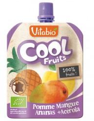VITABIO COOL FRUITS Επιδόρπιο Φρούτων Μήλο, Μάνγκο, Ανανά & Ασερόλα (90γρ)