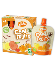 VITABIO COOL FRUITS Επιδόρπιο Φρούτων Μήλο, Ροδάκινο, Βερίκοκο & Ασερόλα +3χρονών
